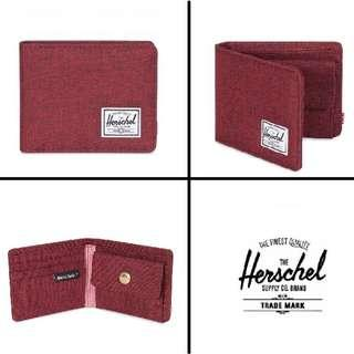 [Instocks!] Herschel Bi-Fold Roy Coin Wallet (Winetasting crosshatch)