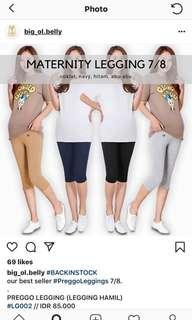 Celana legging hamil 7/8 dan legging panjang big ol belly like new