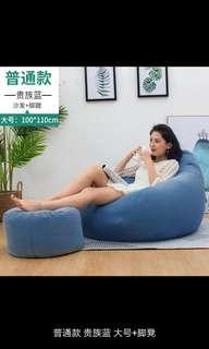 Blue Bean bag sofa 100 x 110 cm