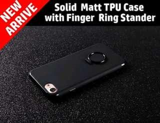 iPhone Matte Case with Finger Ring Stand