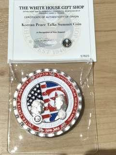 Trump Kim Summit Coin by White House