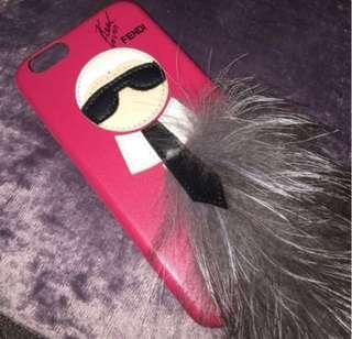 Fendi Karl Lagerfield phone case