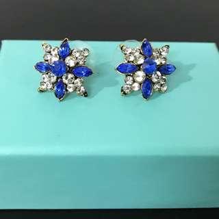 Vintage Diamond & Sapphire Earrings