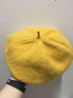 黃色貝雷帽款冷帽