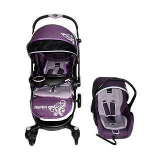 Baby Elle Stroller Aspen TS S603 Kereta Dorong Bayi - Purple