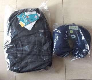 BNIB American tourister Logix Backpack+ Free neck pillow