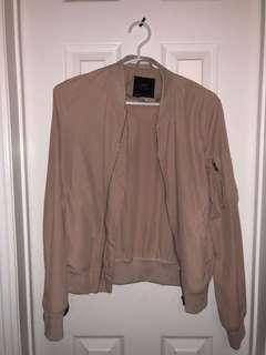 Zara Pink Light Bomber