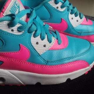 Nike air max blue & pink