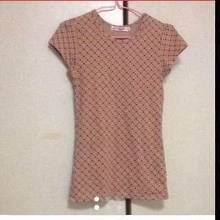 $39 Sweet Hearts Light Brown Blouse ( Brand New With Tag)