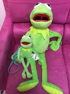The muppets kermit 大公仔 斜咩袋
