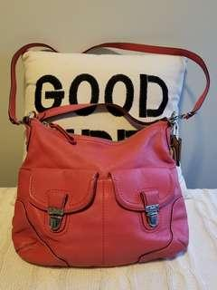 Coach crossbody / shoulder carry hobo in Coral