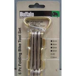 BUFFALO 6 Piece Folding Bike Tool Set