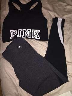 Love pink bra and leggings