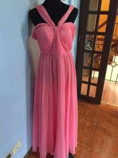 Coral Pink Gown