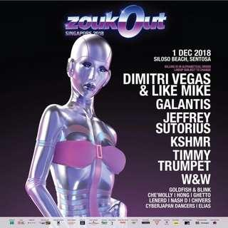 (immediate) ZoukOut 2018 GA Ticket