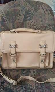 Cream messenger bag