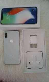 iPhone X 64 GB new condition Apple warranty till March 2019 all accessories are brand new in the box