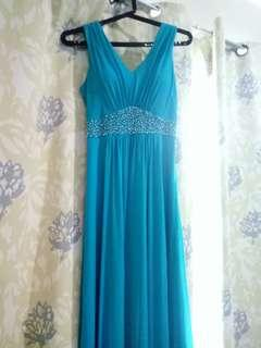 Long Formal Dress Teal Color