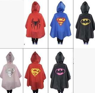 Superhero Rain Ponchos
