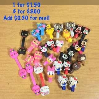 Cartoon character cable clip / cable tie