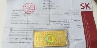 999 Gold Bar ( 1gram)