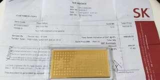 999 Gold Bar (0.5gram)