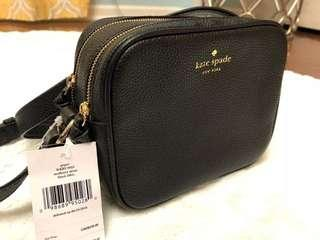 New Kate Spade piper double Zip cross body bag