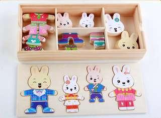 Wooden Puzzle - Family Dress Up Puzzle