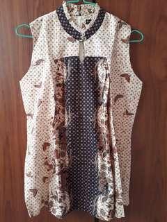 Preloved Batik Semar Sleeveless Top