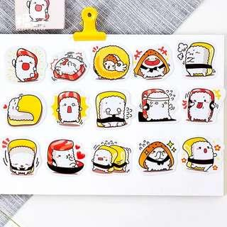 🚚 [In stock] Little sushi daily mood stickers