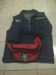 Vest Levis dan waist bag