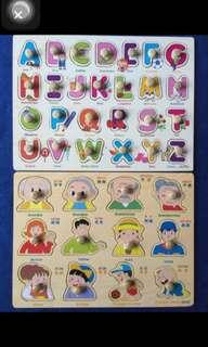 Puzzle zig saw for English and Chinese