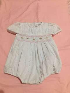 Mia Juliana stylish white onsie (good for christening)