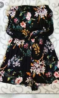 H&M Black Floral Romper Playsuit #MFEB20