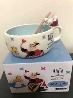 迪士尼愛麗絲夢遊仙境湯杯連匙羹一套