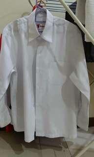 Boy school long sleeve white shirt