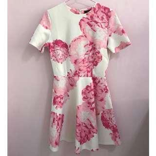 <SALE!> MDS Floral Dress in Pink and White
