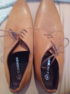 Connor: Brown leather shoes