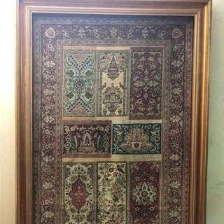 Persian Carpet 💯 vintage handmade silk