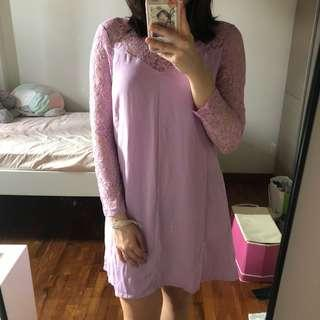 zalora lavender/lilac lace dress