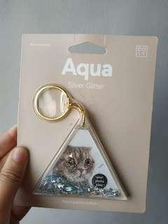 AQUA Cat Keyring Photo Holder