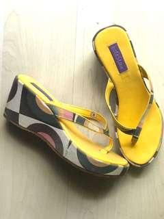 Yellow Flipflop Wedges