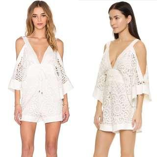 Alice McCall white playsuit size 8- As new worn once