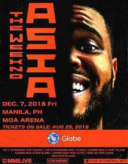 2 Upperbox Ticket for The Weeknd Manila