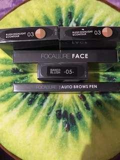 Sale! Ready Stock Focallure Blush On, Highlight, Countour, Eyebrow Pencil 100% ORI Siap Kirim