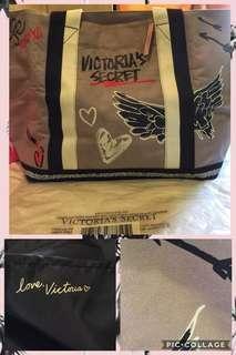 Authentic Victoria's Secret XL tote Canvass bag