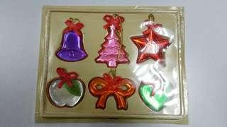 Box of 6pcs Acryllic X'mas Hanging Mobile