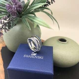 BNIB SWAROVSKI HERO RING BLUE, RHODIUM PLATED - 💯% AUTHENTIC