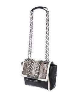 DVF 440 mini satchel. Black / cream / snakeskin