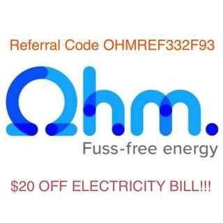 Ohm Referral Code